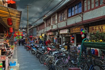 """""""Shinrya - Street near Yuyuan Garden"""" by Pete Stewart"""