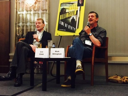 Lee Child interviewing Mark Billingham