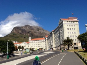 Groote Schuur Hospital at the foot of Table Mountain