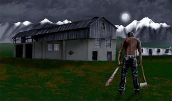 James' visualization of the farm attack scene.