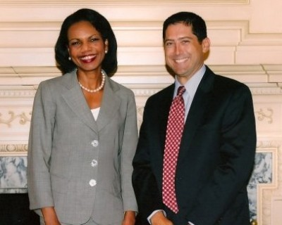 Todd with Condoleezza Rice